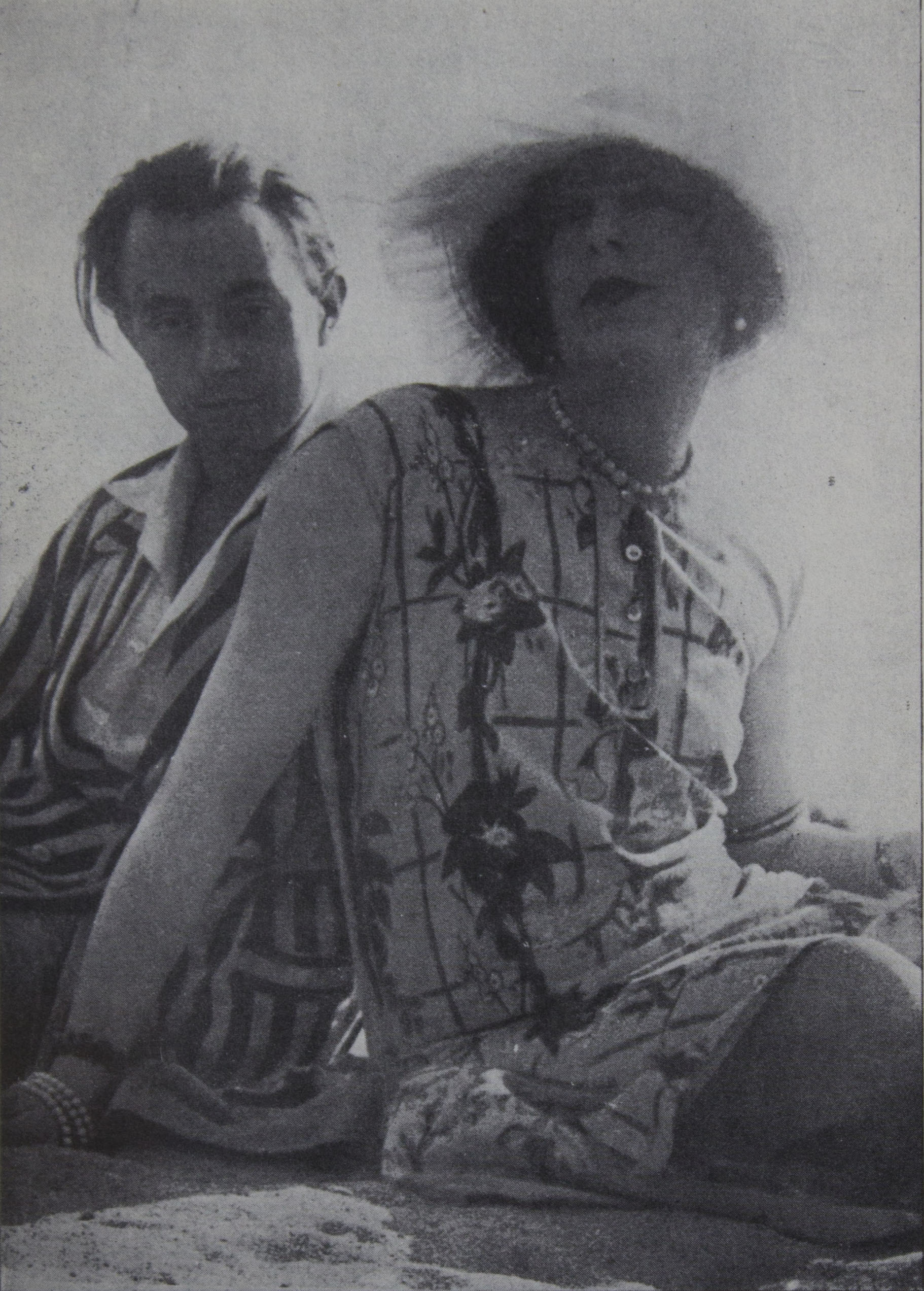 EINAR WEGENER (ANDREAS SPARRE) AT THE TIME HE BEGAN TO                             ASSUME THE NAME OF LILI, AND HER FRIEND                                 CLAUDE, BEAUGENCY, FRANCE, 1928 (BEFORE THE OPERATION)