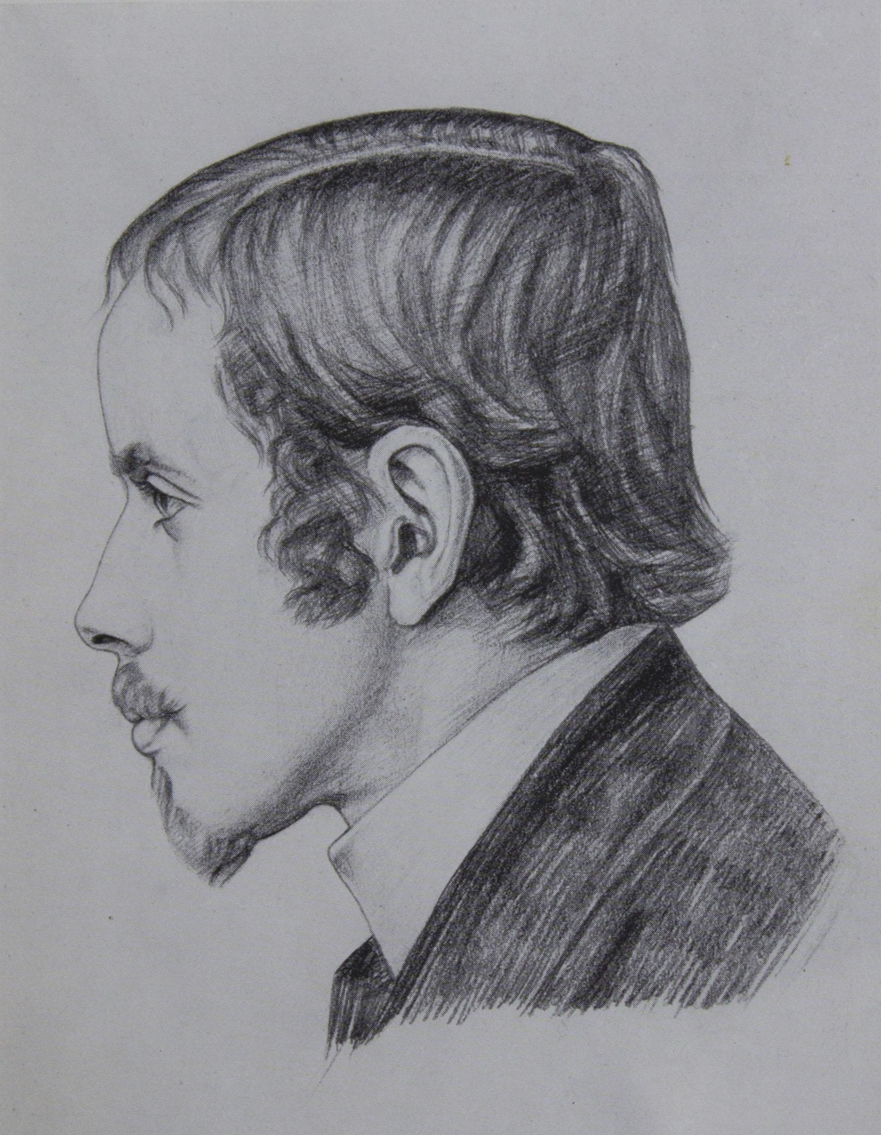 Andreas Sparre (Einar Wegener) als Zwanzigjähriger Gezeichnet                         von einem Freunde