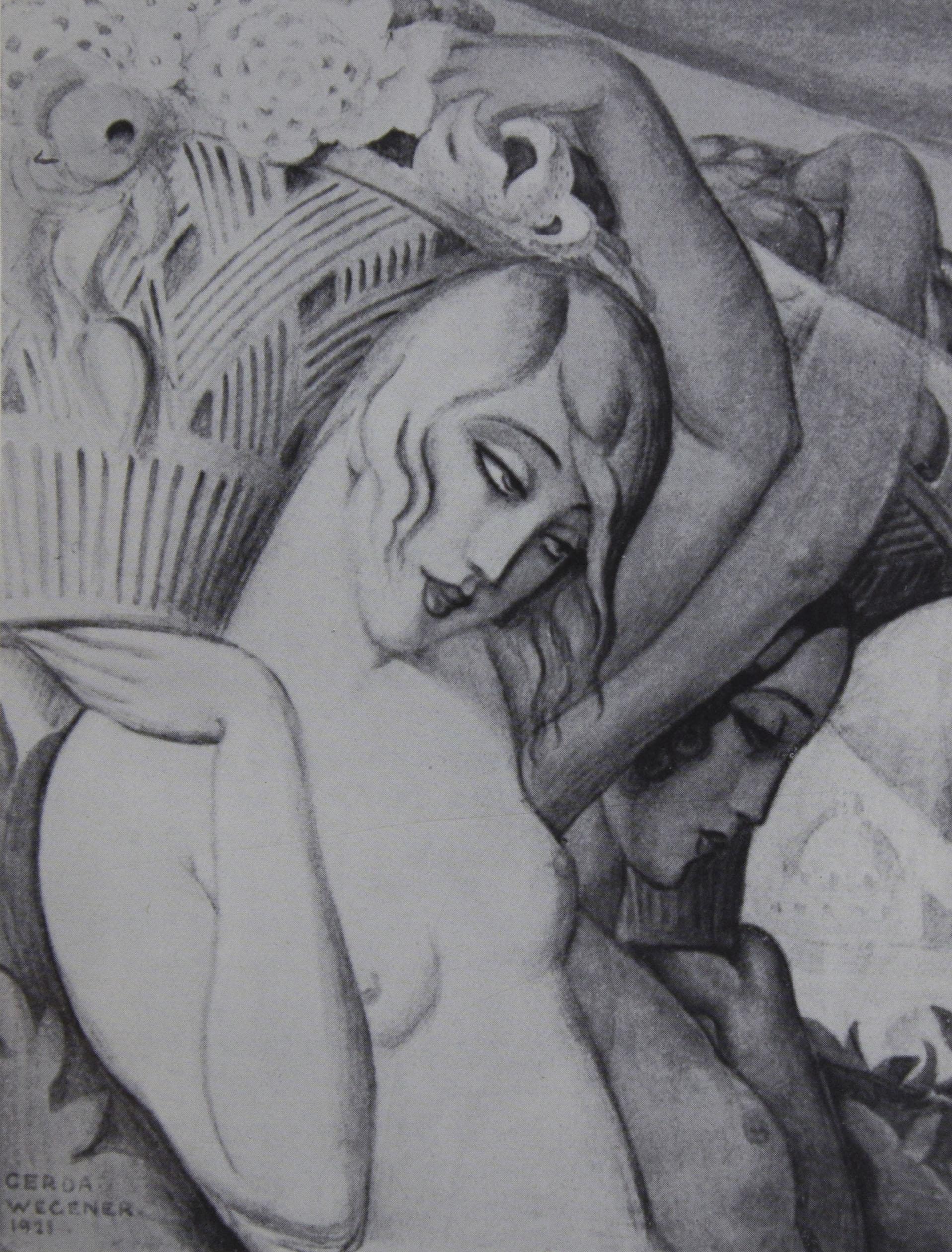 Gerda Wegener: Ein Gemälde von                                 Gerda Wegener, Paris 1921, zu dem Andreas Sparre als Lili                             Modell gestanden hat