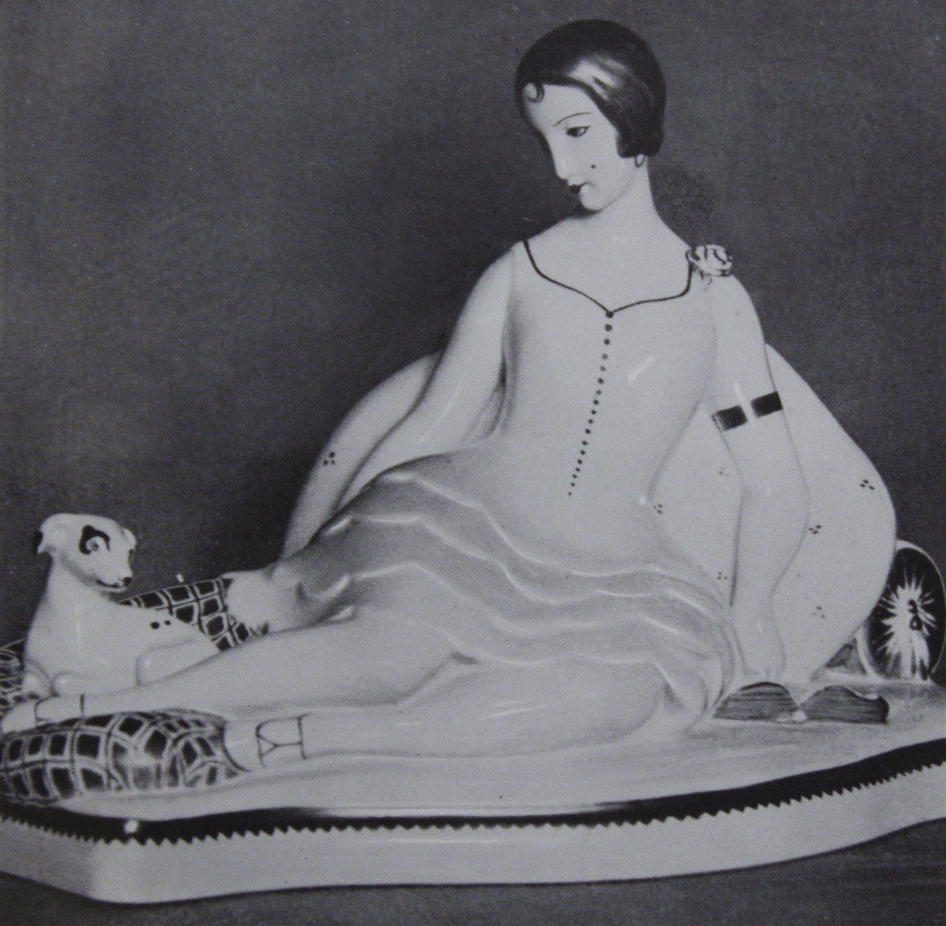 Figurine Eine Porzellanplastik von Andreas                                 Sparre (Einar                                 Wegener)                             Paris 1928