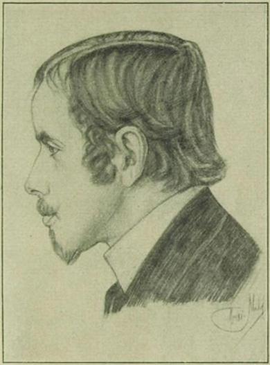 Einar                                         Wegener vor etwa 12 Jahren Nach einer Zeidnung                                     von Louis Kohl