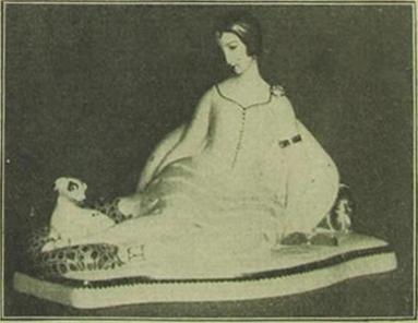 Eine Porzellanskulptur Einar Wegeners