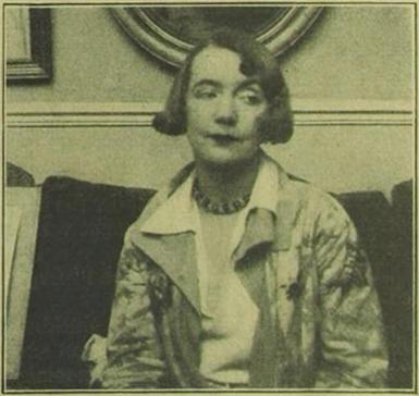 Die Malerin Gerda                                         Wegener, die frühere Frau Einar Wegeners (Paris,                                 1930)